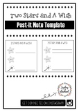 Exit ticket reflection: Two Stars and A Wish post-it note template