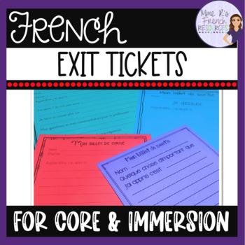 French exit tickets/ billets de sortie