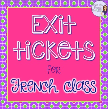 Exit slips for French