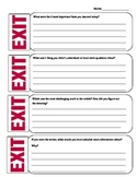 Exit tickets for reading