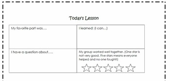 Exit tickets_Exit slips_self assessment
