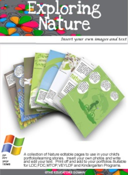 Exlporing Nature editable pack