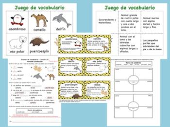 Exámenes de vocabulario de la serie Senderos  Estándares Comunes (unidades 1-6)