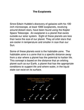 Exoplanets Common Core Activity