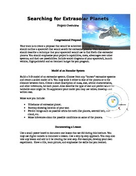 Exosolar planets Project Outline (Astronomy Space extrasolar)