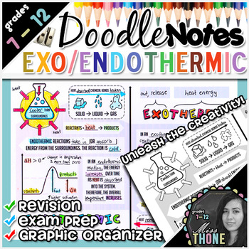 Exothermic & Endothermic Reactions Doodle Notes