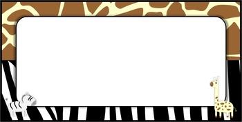 Exotic Animal Print Classroom NAME TAGS