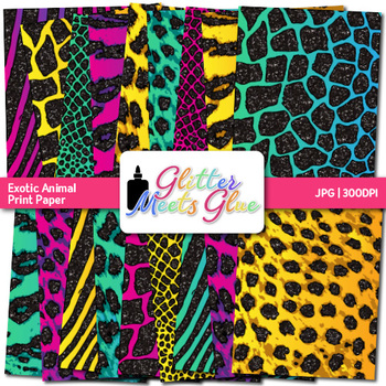 Exotic Animal Print Paper {Jungle & Safari Scrapbook Backgrounds for Brag Tags}