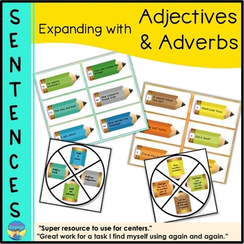 Parts of Speech Activities & Game: Expanding Sentences