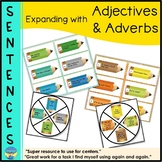 Parts of Speech Worksheets & Activities: Expand Sentences - Adjectives & Adverbs