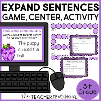 Expand Sentences Game   Expand Sentences Center   Expand Centers Activities