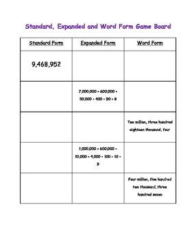 Expand Your Number Sense - Common Core Math Center - Place Value