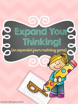 Expand Your Thinking! {an expanded form matching game}