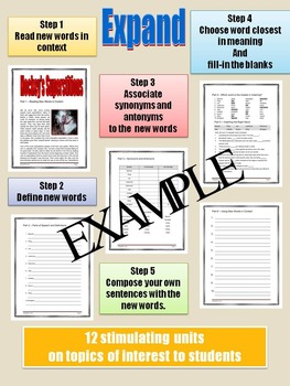 VOCABULARY - Middle and High School - EXPAND - Unit 13: Hockey Superstitions