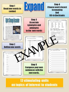 VOCABULARY - Middle and High School - EXPAND - Unit 12: Kyle's Strange Encounter