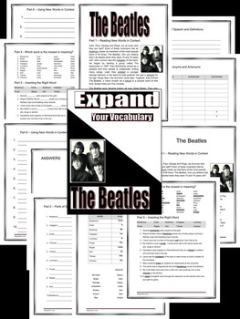 VOCABULARY - Middle and High School - EXPAND - Unit 4: The Beatles