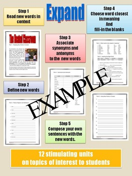 VOCABULARY - Middle and High School - EXPAND Unit 14: The Heated Classroom