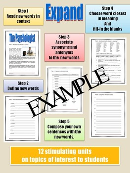 VOCABULARY - Middle and High School - EXPAND - Unit 6: The Psychologist