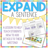Expand-A-Sentence Activity to Help with Adding Details to