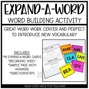 Expand-a-Word {Vocabulary Word Building Activity}