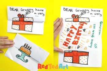 Expandable Celebration Card Making Ideas - Coloring Pages & Drawing Prompts