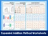Expanded Addition Method Worksheets