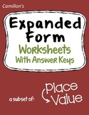 Place Value Expanded Form Worksheets To Thousands, Millions, Billions