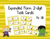Avengers Expanded Form 2 Digit Task Cards