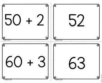 Expanded Form 2 Digit War Math Game