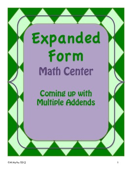 Expanded Form - 2 Digit and 3 Digit Numbers