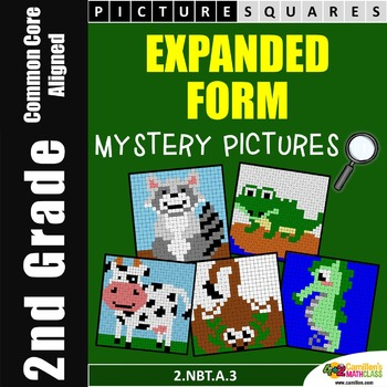 Place Value (2nd Grade) Expanded Form Worksheets, Mystery