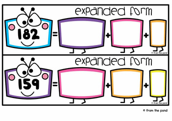 Expanded Form Math Center Activity Cards