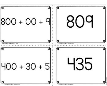 Expanded Form 3 Digit War Math Game