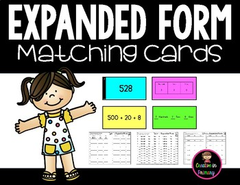 Expanded Form to the Hundreds Matching Cards