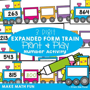 Expanded Form Activity Cards {The Expanded Form Train}