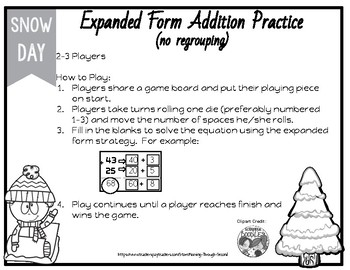 Expanded Form (Splitting Strategy) Addition Game