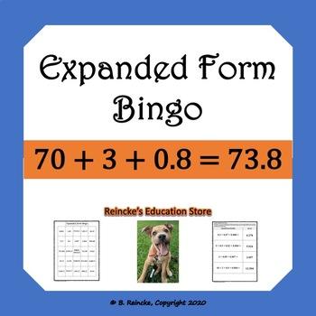 Expanded Form Bingo (30 pre-made cards!)