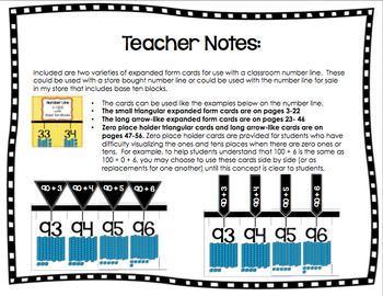 Expanded Form Cards for Classroom Wall Number Line 1-120