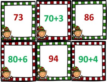 Expanded Form Christmas Go Fish Game