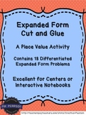 Expanded Form - Cut and Glue - Activities to Practice Expanded Form