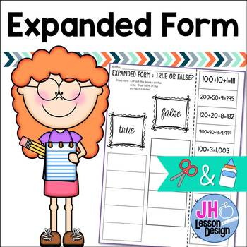 Expanded Form: Cut and Paste Sorting Activity