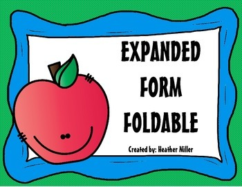 Expanded Form Foldable