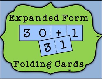 Expanded Form Folding Cards