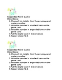 Expanded Form Game and Quiz