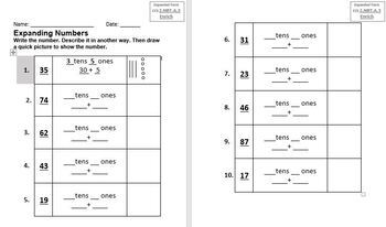 expanded form lesson 1.4  Expanded Form Grade 11414 Go Math Lesson 114.14 w/ Differentiation + Freebies  Editable