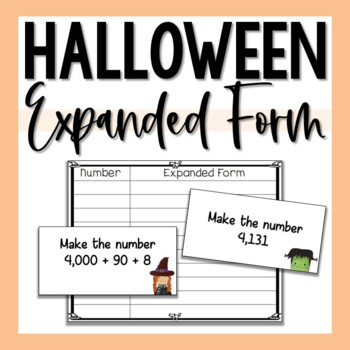 Expanded Form Halloween Math Center