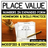 Expanded Form  Homework and Skills Practice