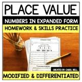 Expanded Form  Worksheets