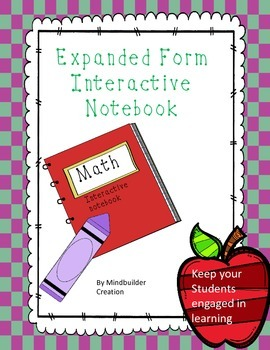 Expanded Form Interactive Notebook Sheets