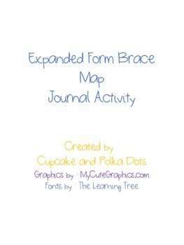 Expanded Form Journal Activity